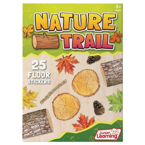 Nature Trail Educational Floor Stickers - 25 Floor Stickers - White
