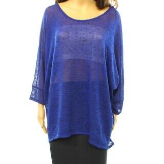 Alfani NEW Blue Women's Size XL Dolman Sleeve Scoop Neck Sweater