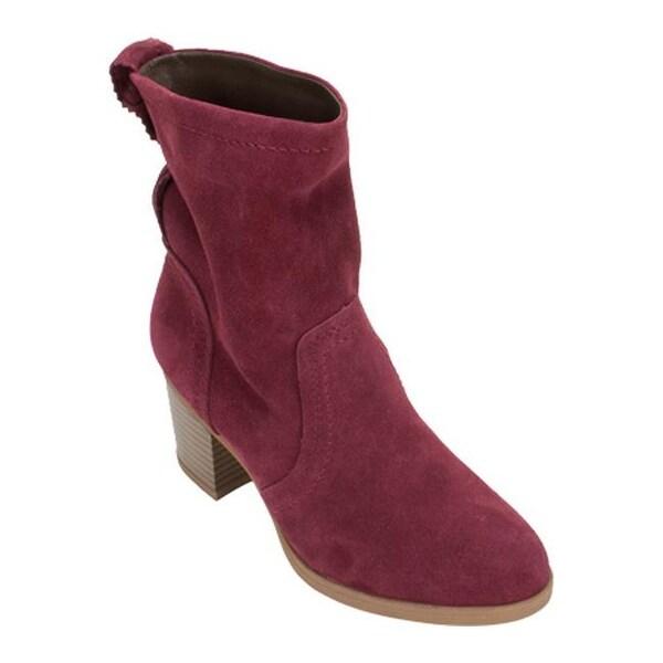 6c5228637a8 White Mountain Women's Behari Ankle Boot Burgundy Suede