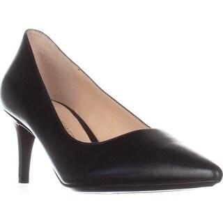 Nine West Soho9x9 Kitten Heel Pumps, Black Leather