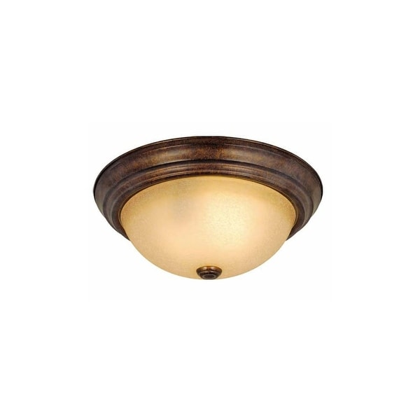 """Vaxcel Lighting CC25111 Saturn 2-Light Flush Mount Indoor Ceiling Fixture with Frosted Glass Shade - 11.25"""" Wide"""