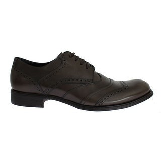Dolce & Gabbana Brown Leather Wingtip Formal Dress Shoes - 45