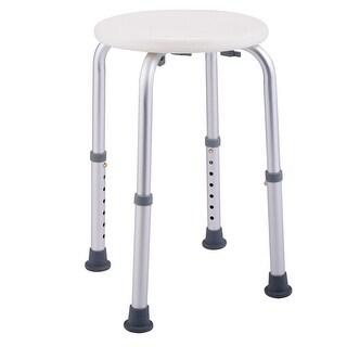 Costway 7 Height Adjustable Bath Shower Chair Medical Seat Stool Bath Tub White