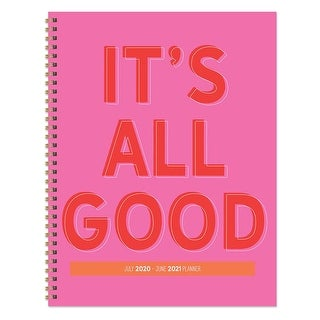 Link to July 2020-June 2021 Large Daily Weekly Monthly It's All Good Spiral Planner with Stickers Similar Items in Planners & Accessories