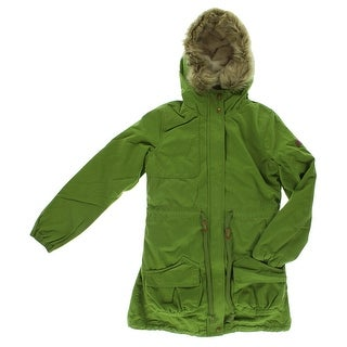 Adidas Womens Sherpa Parka Jacket Forest Green - forest green/light brown/white
