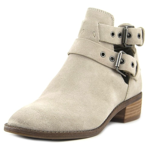 Dolce Vita Taina Women Round Toe Suede Gray Bootie