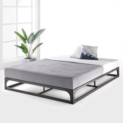 Porch & Den McCamant 9 Inch Heavy Duty Metal Platform Bed Frame Black