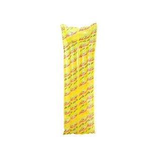 "72"" Water Sports Inflatable Yellow Printed Swimming Pool Mattress Raft Float"