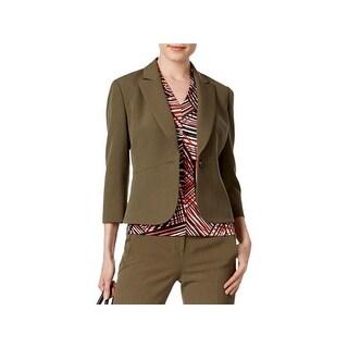 Kasper Womens Blazer Peak-Collar Long Sleeves