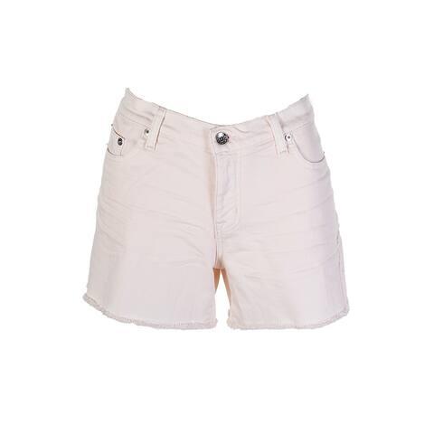 Big Star Pink Wash Patch Work Denim Shorts 32