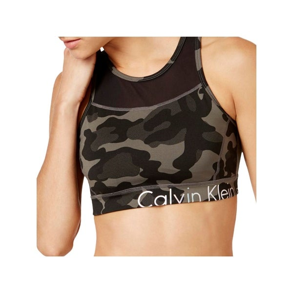 07efa33040004 Shop Calvin Klein Performance Womens Sports Bra Jigsaw Print Medium Impact  - On Sale - Free Shipping On Orders Over  45 - Overstock - 22096386