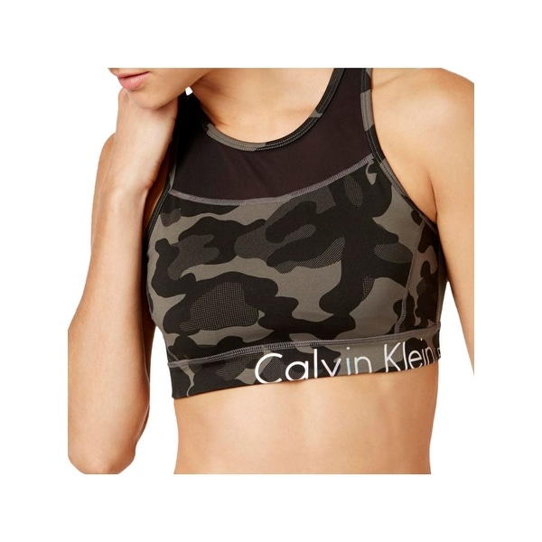 dd1a1757bb Shop Calvin Klein Performance Womens Sports Bra Jigsaw Print Medium Impact  - On Sale - Free Shipping On Orders Over  45 - Overstock - 22096386