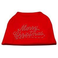 Merry Christmas Rhinestone Shirt Red XXXL(20)