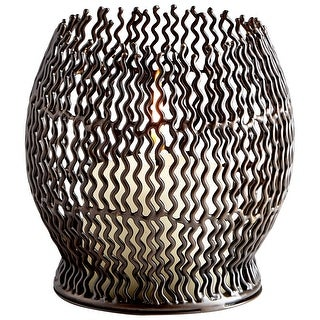 Cyan Design 09705  Ecliptic Iron Decorative Candle Holder - Graphite