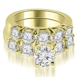 1.65 cttw. 14K Yellow Gold Prong Set Round Cut Diamond Bridal Set