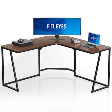 FITUEYES L Shaped Desk Gaming Table Workstation