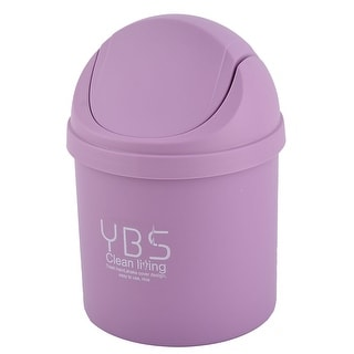 Home Plastic Desktop Decor Waste Trash Rubbish Seedcase Storage Box Can Purple