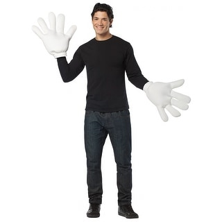 Big White Gloves Adult Costume Accessory