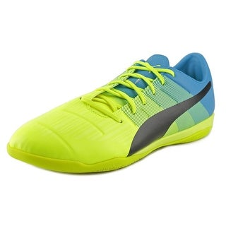 Puma evoPower 3.3 IT Men Round Toe Leather Yellow Sneakers