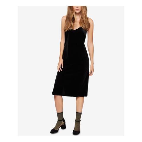 SANCTUARY Black Spaghetti Strap Below The Knee Dress L