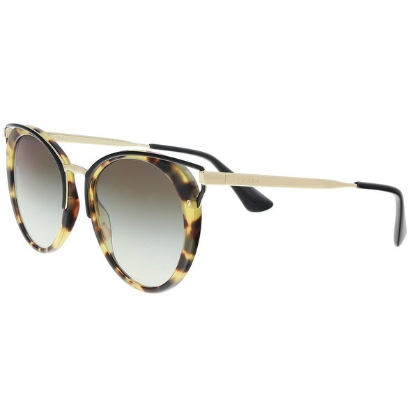 ac7d70f36016f Shop Prada PR 66TS 7S00A7 Medium Havana Cat eye Sunglasses - 54-20 ...