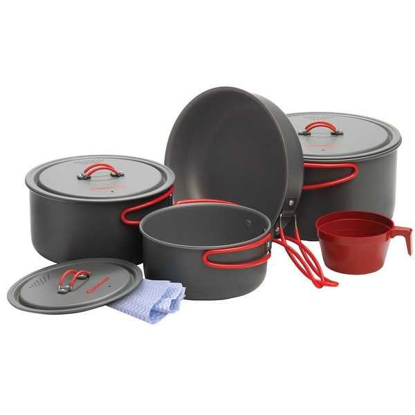 Coghlan's 1324 Hard Anodized Aluminum Cook Set, 10 Pieces