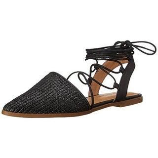 Lucky Brand Womens Mackneill Flats Woven Pointed Toe