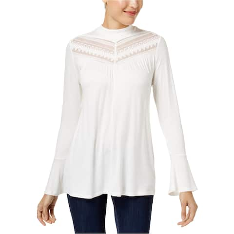 Style&Co. Womens Lace Tunic Blouse