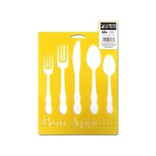 Delta Stencil Mania 7x10 Bon Appetit!