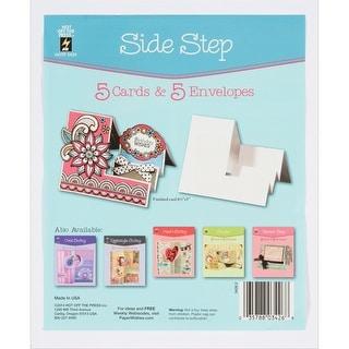 Hot Off The Press Die-Cut Cards W/Envelopes 5/Pkg-Side Step