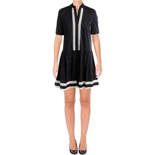 Kate Spade Womens Casual Dress Above Knee Lace Trim