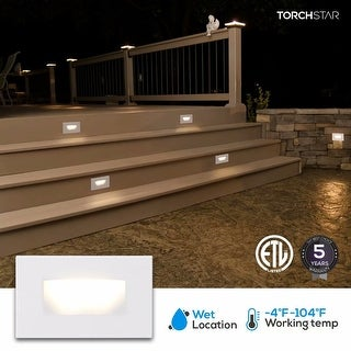 Indoor/Outdoor Stair Light, LED Step Light, 3000K Warm White