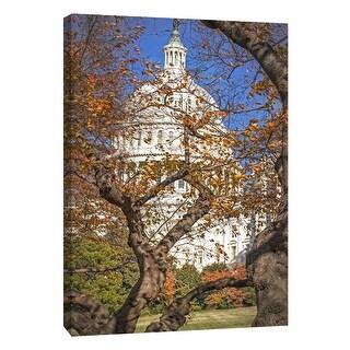 "PTM Images 9-105993  PTM Canvas Collection 10"" x 8"" - ""Us Capitol Autumn"" Giclee Capitol Building Art Print on Canvas"