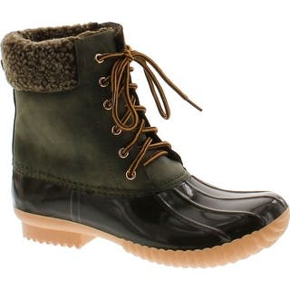 fad3001d69f Nature Breeze Duck-02 Women Stitching Lace Up Side Zip Waterproof Insulated  Boot