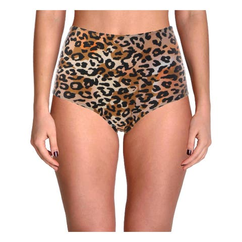 Cynthia Rowley Womens Bailey Animal Print Bikini Swim Bottom Separates