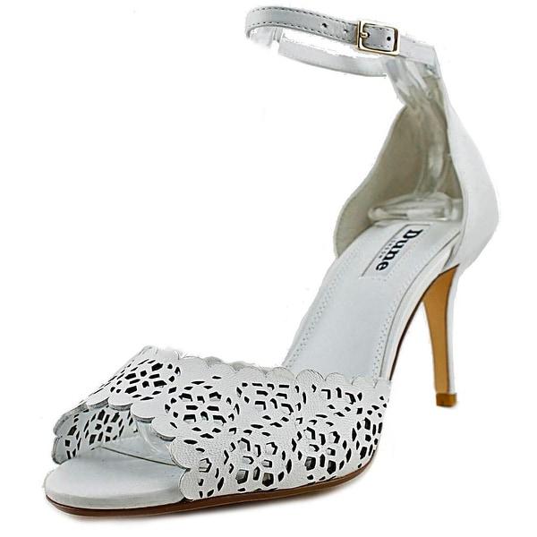Dune London Mylene Women Peep-Toe Leather White Heels