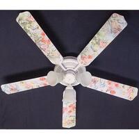 Magical Fairies Print Blades 52in Ceiling Fan Light Kit - Multi