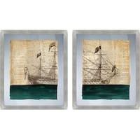 PTM Images 2-13623 Sailing Ship Prints (Set of 2) - N/A