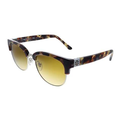 Tory Burch TY 9047 17292L 52mm Womens Havana Frame Yellow Gradient Lens Sunglasses
