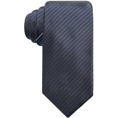 Alfani Mens Norton Stripe Self-Tied Necktie - One Size