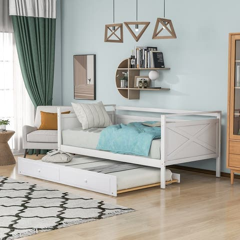Twin Size Daybed with Trundle