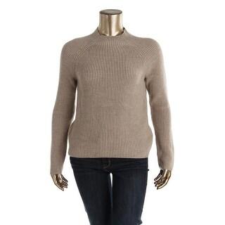 Lauren Ralph Lauren Womens Wool Ribbed Mock Turtleneck Sweater