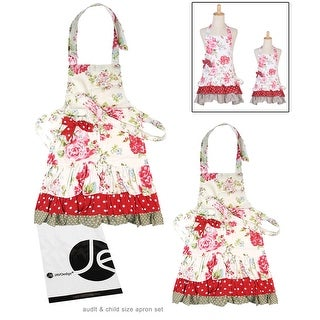 JAVOedge Mommy And Me (2 4 Yrs.) Rose Pattern Apron Matching Set Part 48