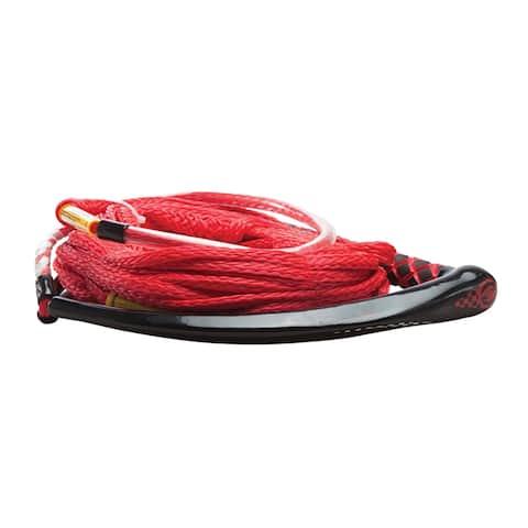 Hyperlite apex pe eva handle 65' wakeboard rope - red
