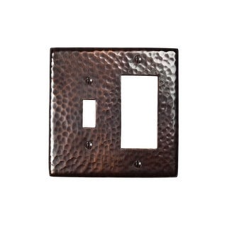 "The Copper Factory CF125 4 7/8 x 4 7/8"" Solid Hammered Copper Single Switch and - N/A"