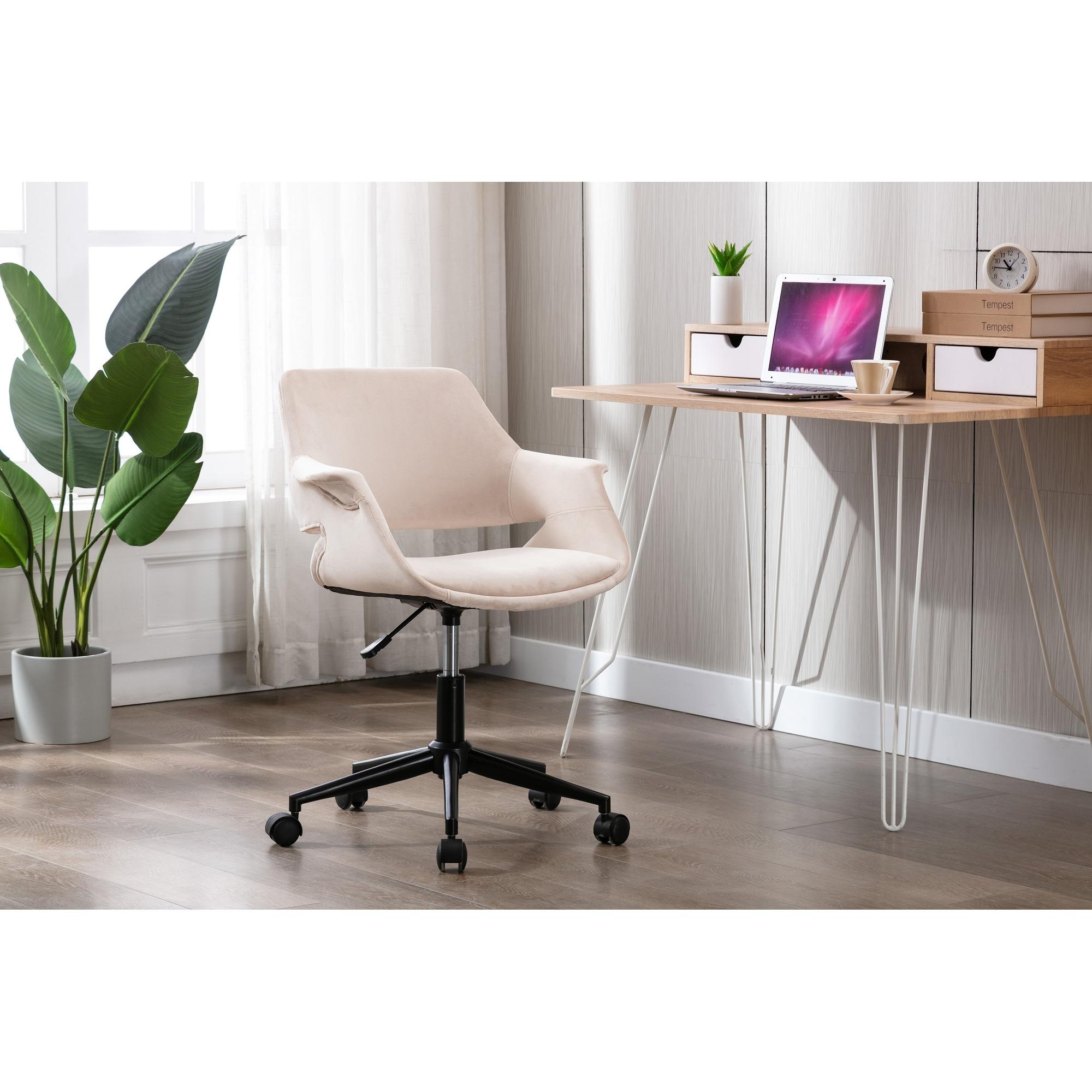 Shop Porthos Home Rylee Swivel Office Chair Velvet Adjustable Height On Sale Overstock 31606404 Pink