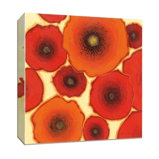 """PTM Images 9-152473  PTM Canvas Collection 12"""" x 12"""" - """"Two Orange"""" Giclee Flowers Art Print on Canvas"""