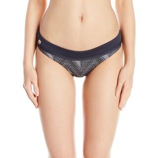 Maaji Gray Womens Size Small S Geo-Print Reversible Bikini Bottom