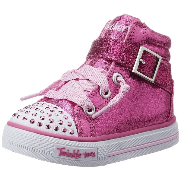 272cc7b77d0 Skechers Infant Toddler Girls  x27  Twinkle Toes Shuffles Heart N Sole High  Top