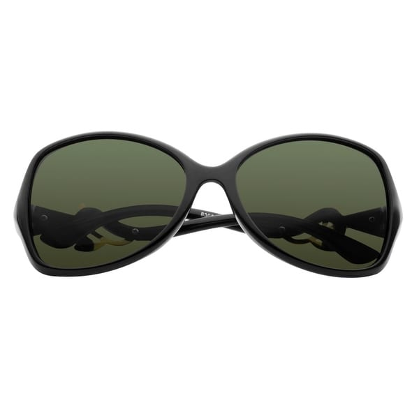 Zodaca Women Fashion 59-mm Polarized 100% UV UV400 Gold Flower Bent Arm Sunglasses